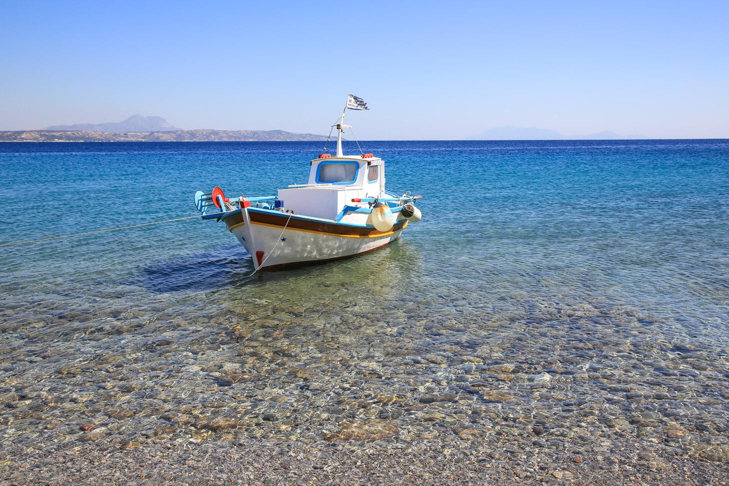 Typisch vissersbootje bij Kos