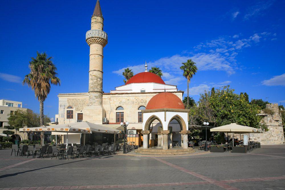 Centrum van Kos-Stad met moskee